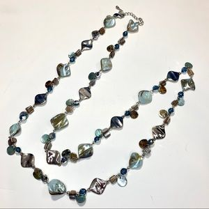 Lia sophia abalone mother of pearl necklace